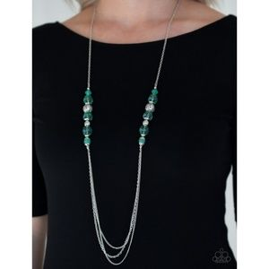 Native New Yorker Green Necklace and Earrings